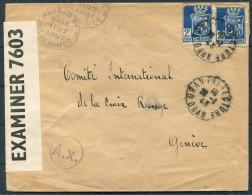 1943 Algeria Oran Prefecture US Army Censor Cover To Red Cross Geneva Switzerland - Algeria (1924-1962)