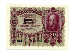 Autriche Austria 20 Kronen 1922 AUNC+++ / UNC # 3 - Autriche