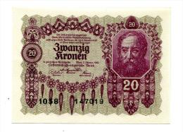 Autriche Austria 20 Kronen 1922 AUNC+++ / UNC # 6 - Austria