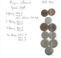 Lot 10 Petites Monnaies Empire Allemand (1871-1918) Grand Aigle - Unclassified
