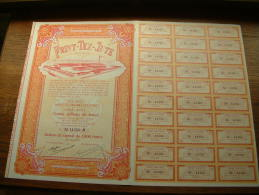 """"""" PRINT-TEX-JUTE """" Mont-St.-Amand-Lez-Gand 1952 Action De 1000 Francs N° 14350 ( Voir Photo Pour Détail ) ! - Actions & Titres"""