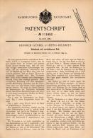 Original Patentschrift - H. Gündel In Leipzig - Reudnitz , 1899 , Schulbank Mit Pult , Schule , Unterricht !!! - Möbel