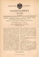 Original Patentschrift - H. Foster In Queensbury Bradford , 1899 , Machine For Yarn , Textiles !!! - Tools