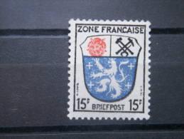 GERMANY, OCCUPATION, 1946, MNH 15pf, French Zone, Scott 4N7 - French Zone