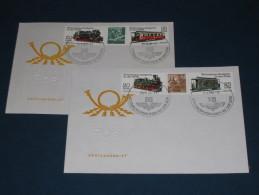 FDC DDR Ersttagsbrief Deutschland 1980 Schmalspurbahnen Eisenbahn Zug Lok Dampflok Railway Train - FDC: Briefe
