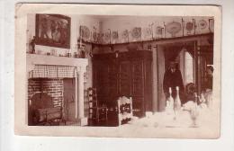 Bretagne - Photo 7.1 X 11.1 Mm Interieur Maison Bretonne Avec Lit Clos Cheminée Et Faiences De Quimper Au Mur - Bretagne