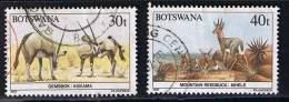 Botswana 1987, Michel # 415 + 417 O - Botswana (1966-...)