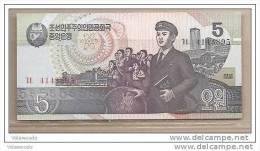 Corea Del Nord - Banconota Non Circolata Da 5 Won - 1998 - Corea Del Nord