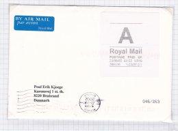 ATM On Cover: United Kingdom Norwich 2002 A Royal Mail  (G21-28) - ATM - Frama (Verschlussmarken)