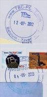 2 Vignetten TBC-POST.COM + Datumstempel TBC 04-06-2013 (nieuw Type : Vermelding PO-2013) + Stempel Van Het Oude ... - Frankeervignetten
