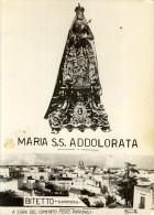1972  MARIA SS. ADDOLORATA   BITETTO  BARI COMITATO FESTE PATRONALI TIMBRO FIRMA PRESIDENTE     18 X 13    RELIGIONE - Luoghi