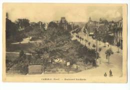 CPA - 59 - CAMBRAI - Boulevard Faidherbe - Edition Morcamp, Tabacs-Gare Cambrai - Cambrai