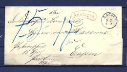 Brief Van Aachen Naar Eupen 07/07/1862  (GA9665) - Germany