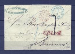 Brief Van Braunschweig Naar Bordeaux 16/09/1853 (GA9669) - Deutschland