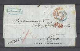 Brief Van Hamburg Naar Nice PD 18/04/1869 (GA9691) - Deutschland