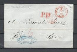 Brief Van Hamburg Naar Havre PD 27/07/1867  (GA9696) - Deutschland