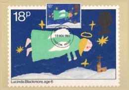 GRANDE-BRETAGNE Carte FDC 1013 Ange Engel Angel Weihnachten Navidad Christmas Kerstmis Natale - Kerstmis