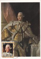 Carte-Maximum BARBUDA  N°Yvert  75 (Portrait Du Roi GEORGE III)  Obl Sp 1971 - Antigua And Barbuda (1981-...)