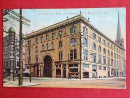 Bridgeport,CT--Court Exchange Building And Algonquin Club--cancel 1909--PJ 122 - Bridgeport