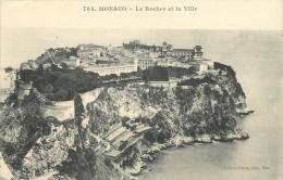 MONACO LE ROCHER ET LA VILLE - Monte-Carlo