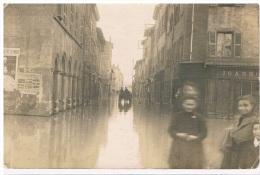 69 - GIVORS -RARE -  Carte Photo Innondation 1919 - 2 Scans - Givors