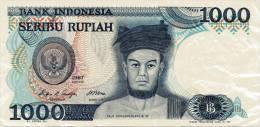 (10)-INDONESIA  1000 RUPIAH 1987 P 124 - Indonésie