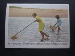 Juin 1938 Princesse Joséphine-Charlotte Vacances Chromo -image:Chocolat Belge Côte-d´Or:série Enfants Royaux De Belgique - Côte D'Or