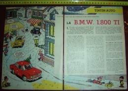 PUB PUBLICITE AUTO ILLUSTREE PAR MITTEI BMW 1800 TI - Collections