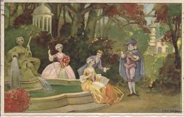 7435 - Genre Vénitien Mucisiens Au Bord De La Fontaine Par Ezio Anichini - Illustrateurs & Photographes