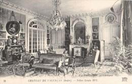 LOT DE 11 CPA : VALENCAY LE CHATEAU GALERIE SALON LOUIS XVIe JARDIN SALLE A MANGER CHAMBRE ROI D'ESPAGNE ARCADES 36 - France