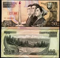NORTH KOREA 50 WON 1992 P 42 S SPECIMEN 0* UNC - Corea Del Nord