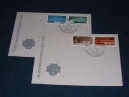 FDC DDR Ersttagsbrief Deutschland 1983 Weltkommunikationsjahr Kommunikation Communication Telefon Schiff Ship Telephone - FDC: Briefe