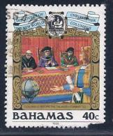 Bahamas, Scott # 641 Used Discovery Of America, 1988, Corner Damage - Bahamas (1973-...)