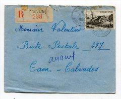 HAUTE SAVOIE De DOUVAINE   Enveloppe  Recommandée  De   1950 - Marcophilie (Lettres)