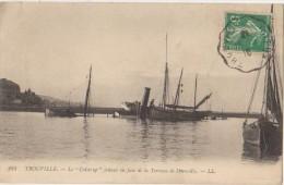 CPA 14 TROUVILLE Le Bateau Colstrup échoué Epave 1910 - Trouville