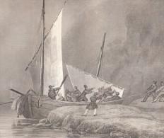 Chaloupe De Pêcheurs Majorquin - Gravée Sur Cuivre Par Desjardins D´après Michel BOUQUET (Lorient 1807 - Paris 1890) - Estampes & Gravures