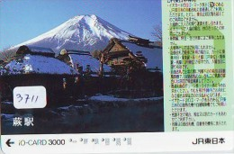 Carte Prépayée  Japon * TRAIN * IO * CARD  (3711) Japan Prepaid Card * ZUG * TREIN * JR * IO * - Montagnes
