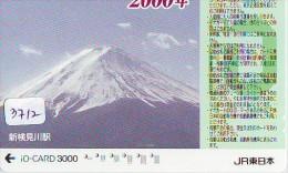Carte Prépayée  Japon * TRAIN * IO * CARD  (3712) Japan Prepaid Card * ZUG * TREIN * JR * IO * Montagne - Bergen