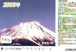 Carte Prépayée  Japon * TRAIN * IO * CARD  (3713) Japan Prepaid Card * ZUG * TREIN * JR * IO * Montagne - Montagnes