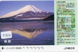 Carte Prépayée  Japon * TRAIN * IO * CARD  (3714) Japan Prepaid Card * ZUG * TREIN * JR * IO * Montagne - Montagnes