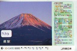 Carte Prépayée  Japon * TRAIN * IO * CARD  (3717) Japan Prepaid Card * ZUG * TREIN * JR * IO * Montagne - Montagnes