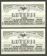 Estonia Estonie Estland Lottery Ticket Lotterilose 1992 - Lottery Tickets