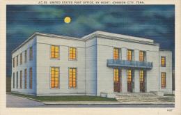 Johnson City,Post Office By Night N0.1427 - Johnson City