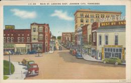 Johnson City, Main Street Looking East, Mecca Restaurant, J.C.83 - Johnson City