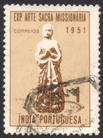 Portuguese India, 1 T. 1953, Sc # 525, Mi # 490, Used - Portuguese India