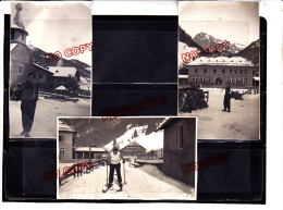 Chapelle D\´Abondance Haute Savoie Hôtel Trincaz Petite Chapelle Ecole Ski 3 Janvier 1942 Excellent état - Lieux