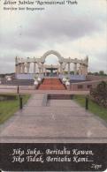 "BRUNEI(chip) - Silver Jubilee ""Recreational Park"", Zippi Telecard $10, Used - Brunei"