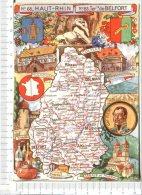 HAUT  RHIN   &  Territoire De BELFORT    -  Cartographie Du Département -  Illustration - - France