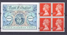 GreatBritain1994: 300th ANNIVERSARY Of BANK Of ENGLAND  Mnh** - Carnets