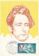 D12855 CARTE MAXIMUM CARD 1970 MONACO - DE LAMARTINE POET CP ORIGINAL - Escritores